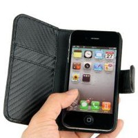Leather Case Cover Wallet for iPhone 4 4S free shipping