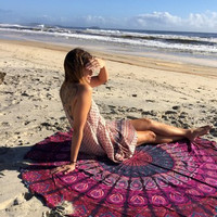 Dorm Tapestry Decorative Wall Hanging Picnic Beach Sheet Coverlet Bohemian Mandala Wall Tapestry