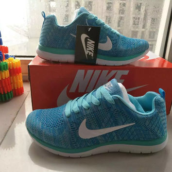 """""""Nike"""" Fashion Casual  Unisex Breathable Comfortable Fly Weave Couple Sneakers Running Shoes"""