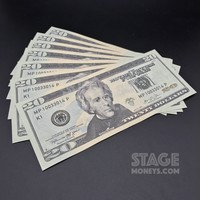 7x $20 Bills - $140 - New Style Prop Money