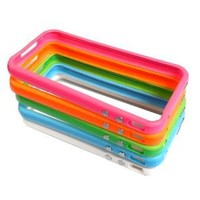 Amazon.com: Combo 2Tone Colorful Premium Bumper Case for AT&T Apple iPhone 4/4G - 5 Piece: Cell Phones & Accessories