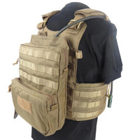 Military Tactical Molle Hydration Bladder Carrier Pack Load Bearing Backpack Airsoft Paintball Hunting Camping Hiking 1000D Bag