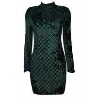 Velvet Gala Dress - Green - Society of Chic