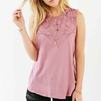 Truly Madly Deeply Astro Delia A-Line Muscle Tee- Mauve