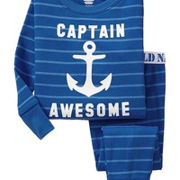 """Old Navy """"Captain Awesome"""" Striped PJ Sets For Baby Size 6-12 M - Goodnight nora"""