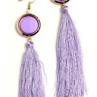 GEM TASSEL FRINGE EARRINGS