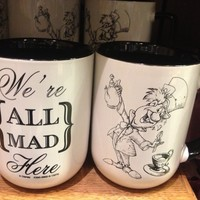 Disney Park Exclusive Mad Hatter Coffee Mug Were All Mad Here