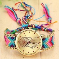 Fashion Women Dreamcatcher Watch Wool Handmade Friendship Watch Relojes Mujer 1468 [8834065164]