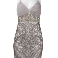 Sue Wong N1442 Platinum Cocktail Dress