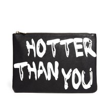 ASOS Clutch Bag With 'Hotter Than You' Slogan