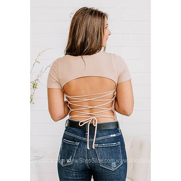 Wrapped Up In You Open Back Bodysuit