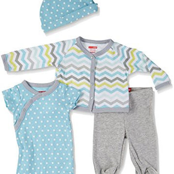 SkipHop Baby-Boys Starry Chevron 4 Piece Welcome Home Set, Blue, New Born