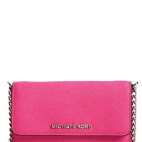 MICHAEL Michael Kors 'Large Jet Set' Saffiano Leather Crossbody Bag