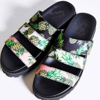 YES Ruby Pineapple Slide Sandal - Novelty