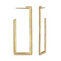 Structural Simplicity Gold Earring