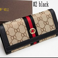 New hot sale fashion light cooked leather wallet with clasp