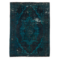 Antique Overdyed Blue Rug - 4' x 6'9""