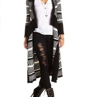 Striped Cascade Duster Cardigan by Charlotte Russe