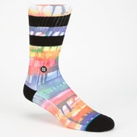 Stance Ollie Mens Athletic Crew Socks Multi One Size For Men 25223195701