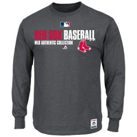 Majestic Boston Red Sox 2014 Authentic Collection On-Field Player Long Sleeve T-Shirt - Charcoal