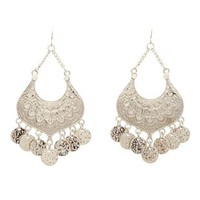 Boho Dangling Coin Earrings by Charlotte Russe