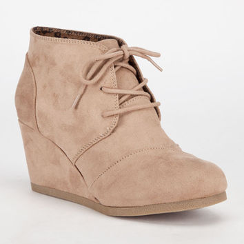 City Classified Rex Womens Wedges Light Taupe  In Sizes