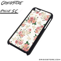 floral flower vintage fashion iPhone case iPhone 5C iPhone 5C cover iPhone