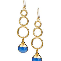 Janna Conner Designs Cobalt Quartz Drop Earrings
