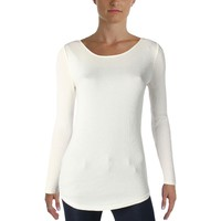Lauren Ralph Lauren Womens Ribbed Knit Long Sleeve Pullover Top