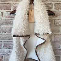 Monogrammed Faux Shearling Furry Vest