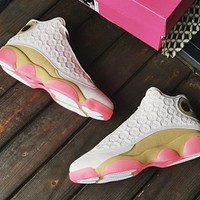 Air Jordan 13 CNY AJ13 high-top basketball shoes gray powder copper