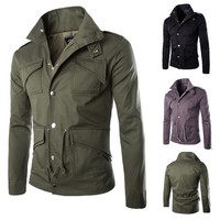 Army Men Style Zip Up Jacket