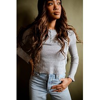Swift Button Down Thermal in Grey