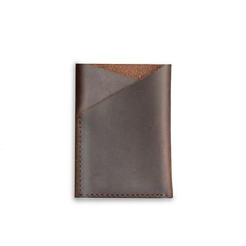 Brown Cash and Card Pouch
