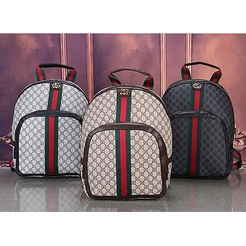 GG Woman Men Fashion Leather Backpack Tote Daypack Bookbag