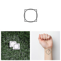 Outside of the Box - Temporary Tattoo (Set of 2)