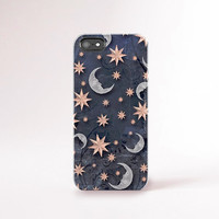 Moon Stars iPhone Case Rose Gold and Silver Color 90's iPhone Case Star Moon iPhone 6 Case Silver Galaxy iPhone Case Tough iPhone 6 Case