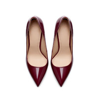 SYNTHETIC PATENT LEATHER HIGH HEEL COURT SHOE - Shoes - TRF   ZARA United States