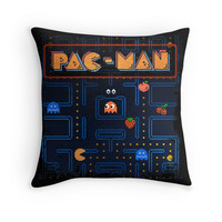 'Man-Pac' Throw Pillow by likelikes