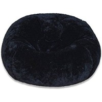 Plush Bean Bag, Medium, Black