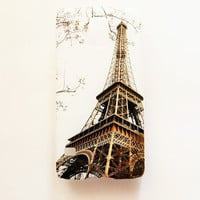 Samsung Galaxy S5 Eiffel Tower Paris Hard Plastic Romantic Galaxy S5 Back Cover Cute France Vintage Samsung S5 Cover