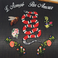 Bee snake flower applique patches vintage embroidered badge fabric patch Fashion clothing decoration accessories patch