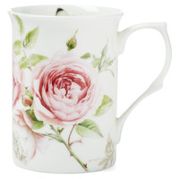 Beau Rose Mugs, Set of 4, Latte