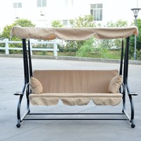 Reclining Patio Swing with Canopy