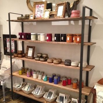 Wood Shelves with Hot Rolled Steel Frame