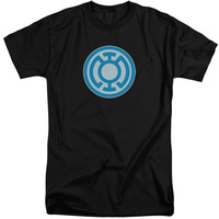 GREEN LANTERN/BLUE SYMBOL-S/S ADULT TALL-BLACK
