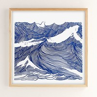 Kym Fulmer Crashing Waves Art Print | Urban Outfitters