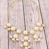 Pearl JCREW Inspired Bubble Necklace