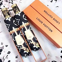 LV Louis Vuitton Fashion Hot Sale Men's and Women's Printed Letters Hit Color High-end Umbrella