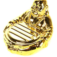 GAMAGO Home Decot Gold Buddha Soap Dish in Gold
